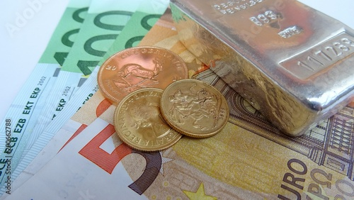 Złoto srebrne pieniądze