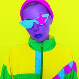 Purple Party Girl Mix trendy colors. Minimal design art - 200671961