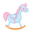 wooden rocking horse play toy