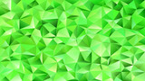 Green geometric abstract chaotic triangle tile pattern background - mosaic vector graphic design