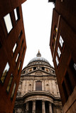St.Paul's Cathedral through a narrow street