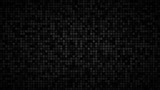 Abstract dark background of small squares or pixels in shades of black and gray colors. - 200686968