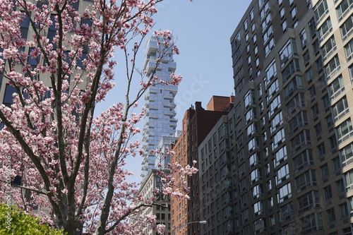 Keuken foto achterwand New York Spring in a Large American City