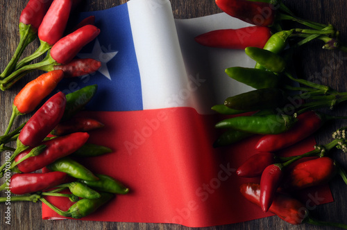 Staande foto Hot chili peppers Chile