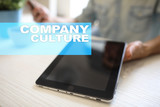 Company culture text on virtual screen. Business, technology and internet concept. - 200704706