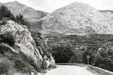 Winding asphalt road in Spain