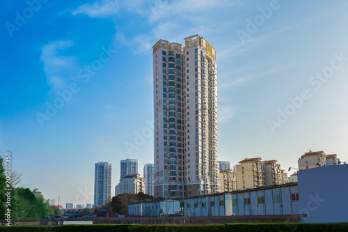 Foto op Plexiglas Peking City, Cityscape, Street, Apartment, City Street