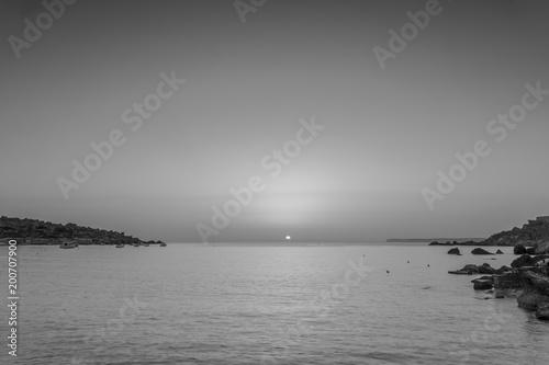 Foto op Plexiglas Grijs Malta Ocean Sunset Landscape