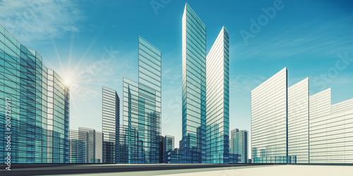 Miasto sceny renderingu 3d