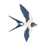 Cartoon swallow icon on white background. Vector illustration. - 200735321