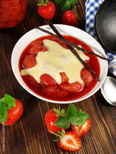 Foto Murales Erdbeeren - Kompott