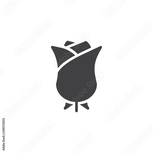 Rose flowers vector icon. filled flat sign for mobile concept and web design. simple solid icon. Rosebud symbol, logo illustration. Pixel perfect vector graphics