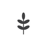 Acacia leaf vector icon. filled flat sign for mobile concept and web design. Tree leaf simple solid icon. Symbol, logo illustration. Pixel perfect vector graphics - 200750715