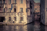 Traditional view of streets in Venice, Italy