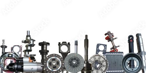 Borders of car parts.