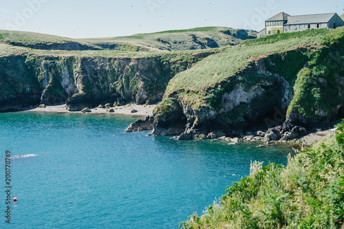 In de dag Olijf Wardens house on Skomer Island Pembrokeshire West Wales UK