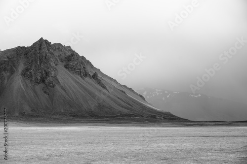 Aluminium Wit Iceland Mountain