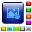 Adjust image brightness color square buttons