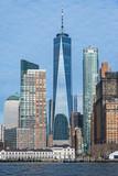 Manhattan skyline from water, NYC