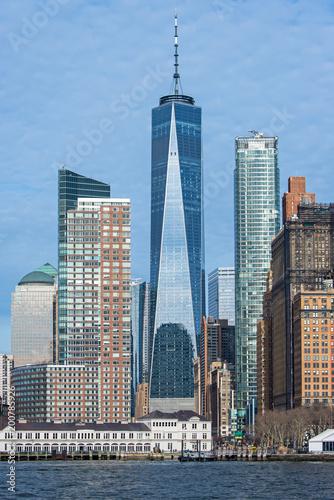 Foto op Plexiglas New York Manhattan skyline from water, NYC