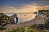 Beautiful landscape view of Durdle Door on the Jurassic Coast at sunset - 200788391