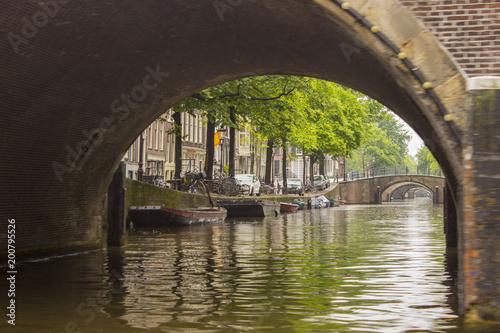 Fotobehang Bruggen Canals in The Netherlands