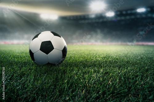 Fotobehang Bol Fußball in einem Stadion
