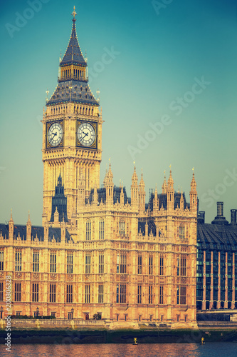 Fotobehang Londen Big Ben and houses of parliament in London, UK