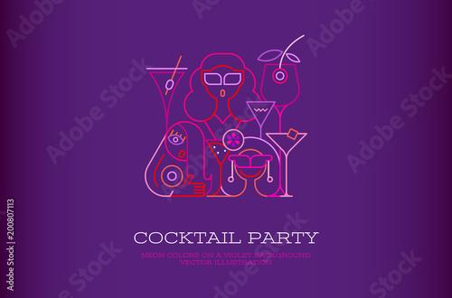 Plexiglas Abstractie Art Cocktail Party