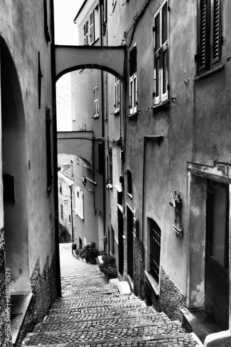 Plexiglas Smalle straatjes ALASSIO