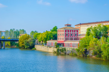 View of the casa de las ciencias museum in the spanish city Logrono