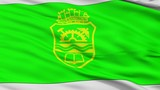 Gabrovo closeup flag, city of Bulgaria, realistic animation seamless loop - 10 seconds long - 200825339