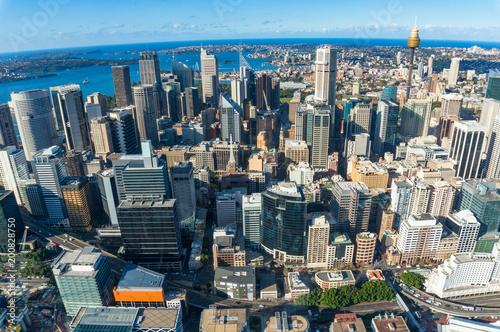 Plexiglas Sydney Aerial cityscape of Sydney CBD
