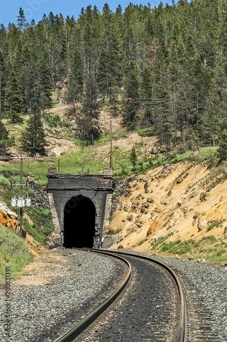 In de dag Spoorlijn Mullan Tunnel