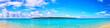 Quadro 真夏の宮古島。与那覇前浜ビーチから見る来間島(パノラマ)
