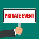 private event sign flat concept - 200835793