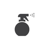 Spray bottle vector icon. filled flat sign for mobile concept and web design. Barber water sprayer simple solid icon. Symbol, logo illustration. Pixel perfect vector graphics - 200839364