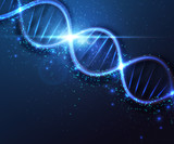 Abstract DNA molecule, science background. Vector graphic