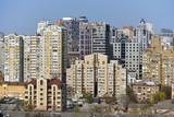 kiev city skyline, architectural background