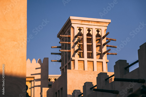 Foto op Plexiglas Dubai Old style buildings in Dubai