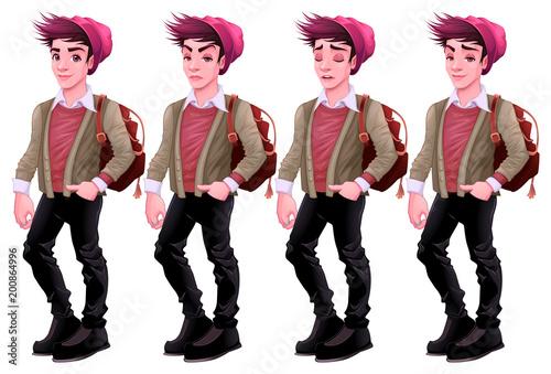 Foto op Plexiglas Kinderkamer Boy with different expressions