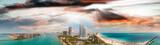 Aerial view of Miami skyline from South Pointe Park, Florida - 200865547