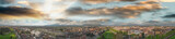 Panoramic aerial view of Lucca, ancient town of Tuscany