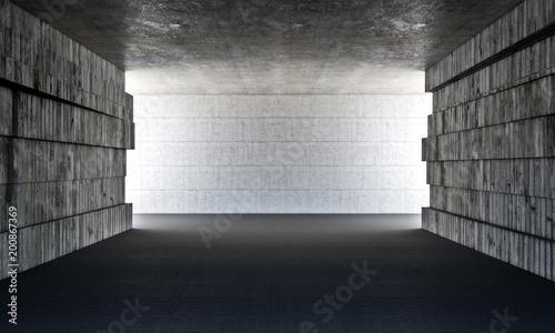 grunge betonowy pokój