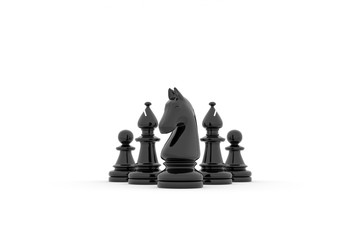 Chess team building strategy - kight, bishops and pawns