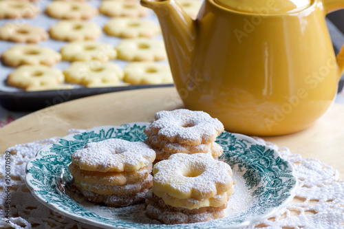 canestrelli biscuits just baked ready for tea time