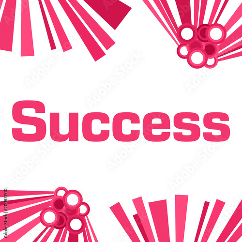 Success Pink Abstract White