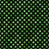 Green seamless pentagram star pattern background - vector design