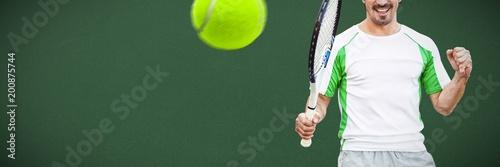 Złożony wizerunek gracz w tenisa