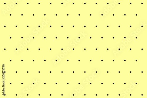 Black and yellow small polka dot background pattern - 200876730